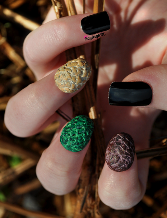 Game of Thrones - 3D Dragon Egg Nail Art by KayleighOC on DeviantArt
