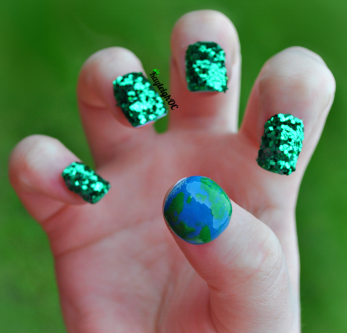 Earth Day Nail Art by KayleighOC