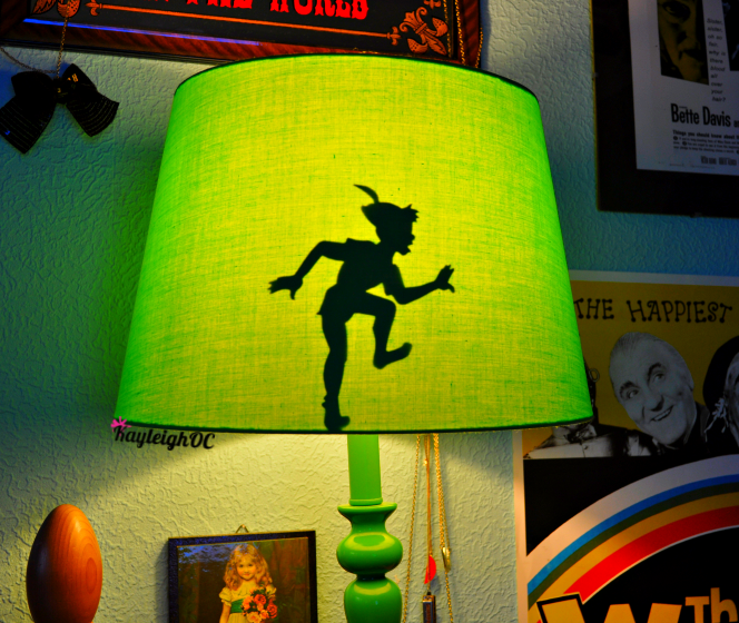 Peter Pan's Shadow in my Lamp Shade by KayleighOC