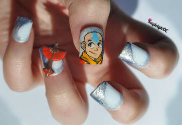 Avatar: The Last Airbender Nail Art by KayleighOC