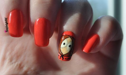 South Park - Kenny Nail Art by KayleighOC