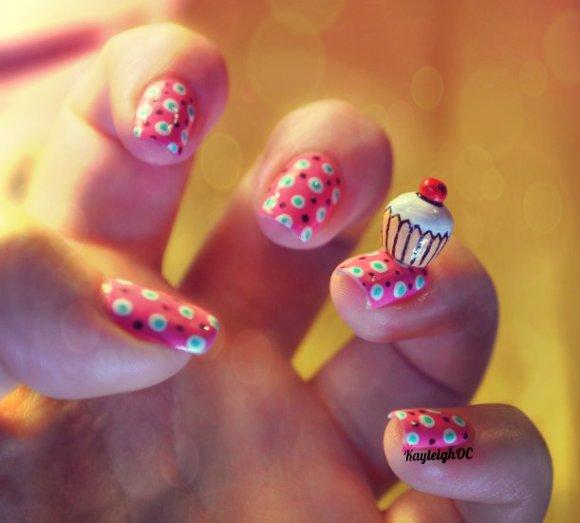 Cupcake Nail Art by KayleighOC