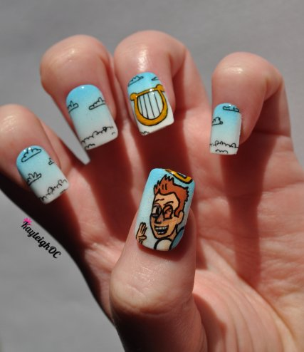 Community Nail Art - I'll Never Tell by KayleighOC