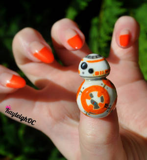Star Wars BB-8 Nail Art