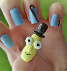 Rick and Morty Nail Art - Mr. Poopy Butthole