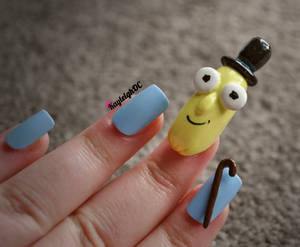 Rick and Morty Nail Art - Mr. Poopy Butthole 2