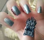 Game Of Thrones Nail Art - The Iron Throne