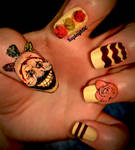 American Horror Story Nail Art - Twisty The Clown