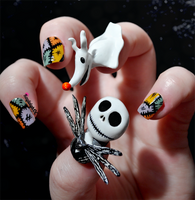 The Nightmare Before Christmas - Nail Art by KayleighOC