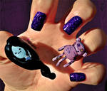 Adventure Time Nail Art - Marceline and Hambo