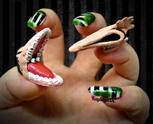 Beetlejuice Nail Art - The Maitlands