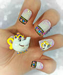 Mrs Potts and Chip - Beauty and the Beast Nail Art