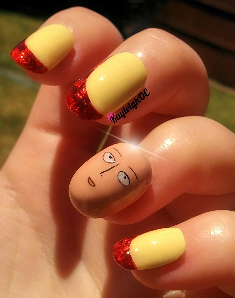 One Punch Man 3d Nail Art By Kayleighoc On Deviantart