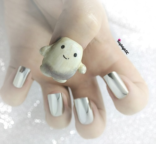 Doctor Who Nail Art - Adipose by KayleighOC