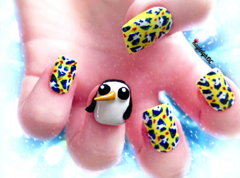 Adventure Time 3D Nail Art - Gunter by KayleighOC