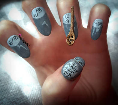 The Nightmare Before Christmas - 3D Nail Art by KayleighOC
