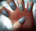 The Nightmare Before Christmas - 3D Nail Art