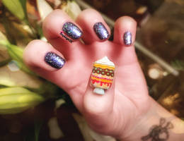 Friends 3D Nail Art - Traditional English Trifle