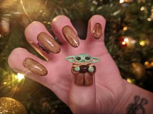 Baby Yoda - 3D Nail Art