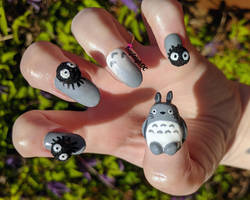 My Neighbour Totoro - 3D Nail Art