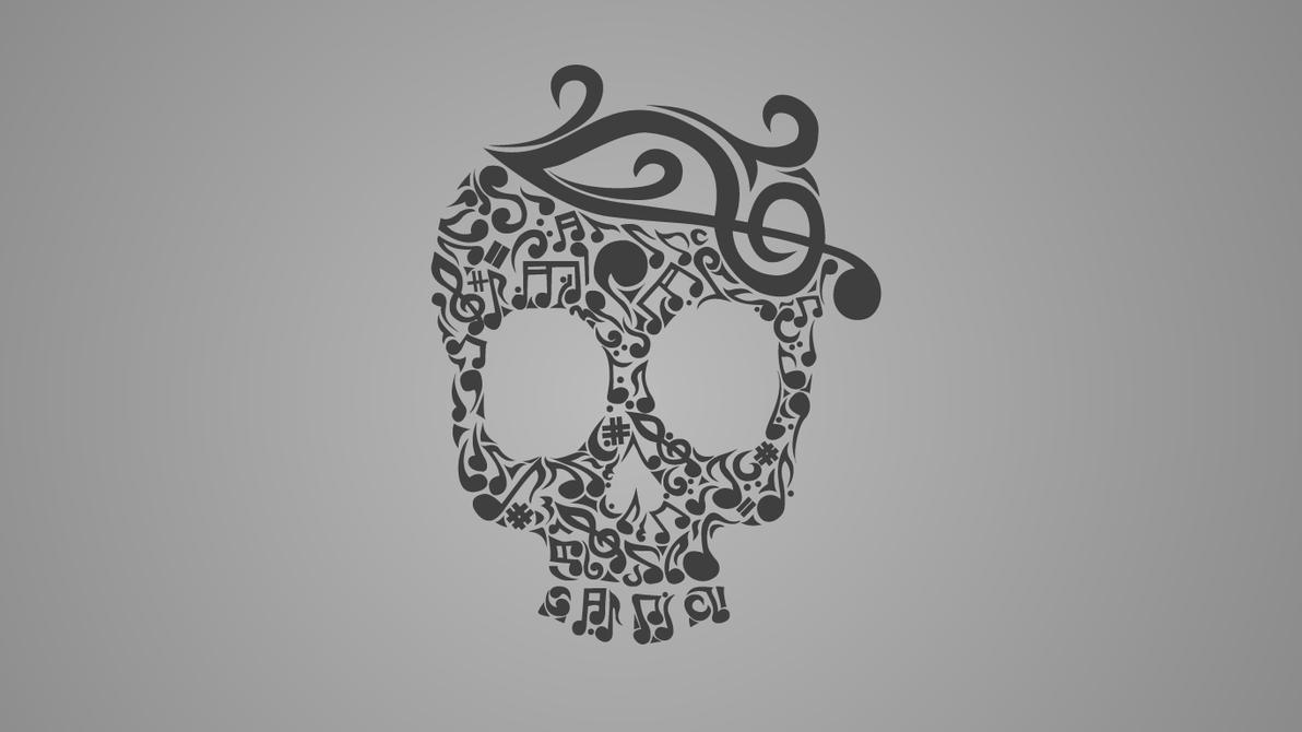 Skull Art Tumblr skull music by nandawan