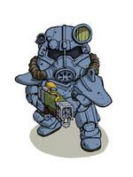 Power armor fallout (pixiv artist) by LiquidSnake81