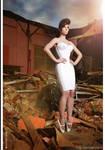 Kay Morgan - Pink corset dress and ballet heels