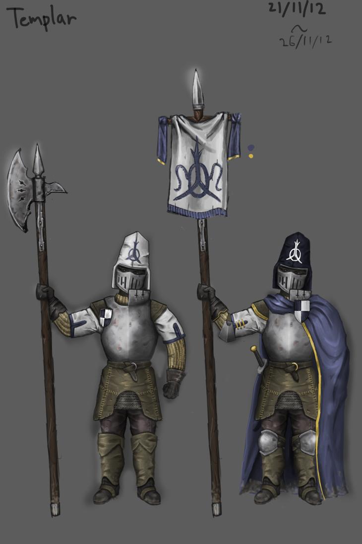 Templar Knight Concept by KidneyShake
