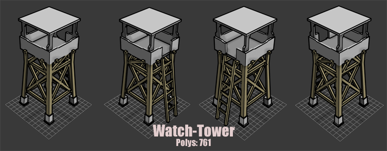Watch Tower Model by KidneyShake