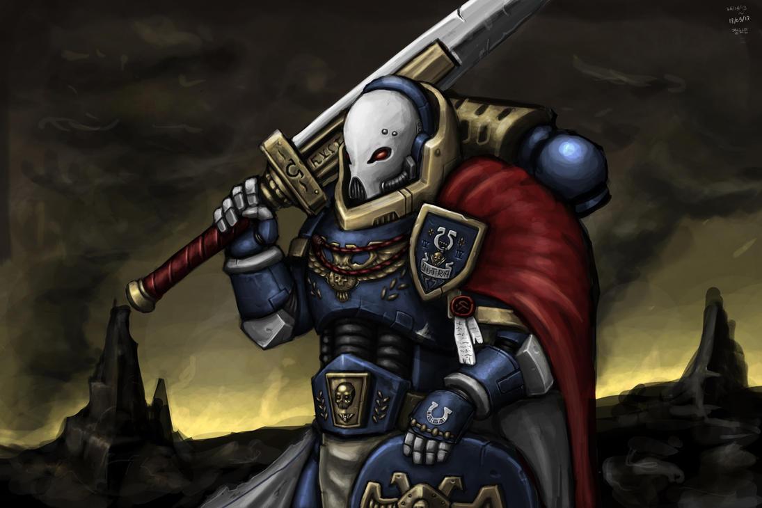 Ultramarine Captain by KidneyShake