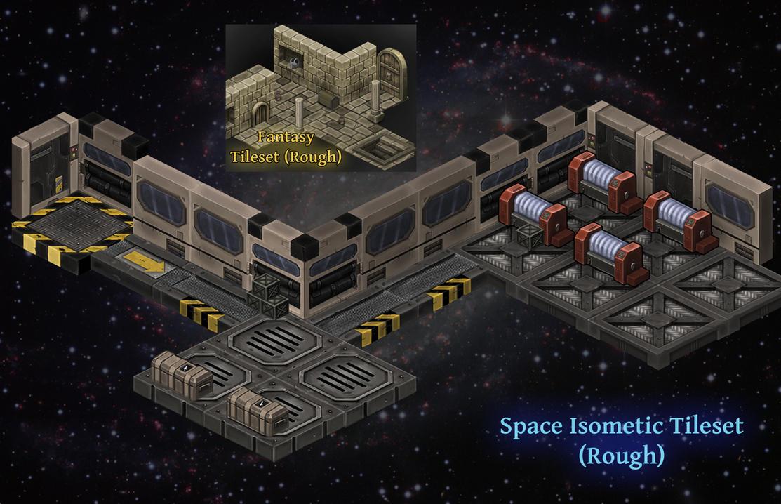 Isometric Space Tileset (+Fantasy Tileset) by KidneyShake