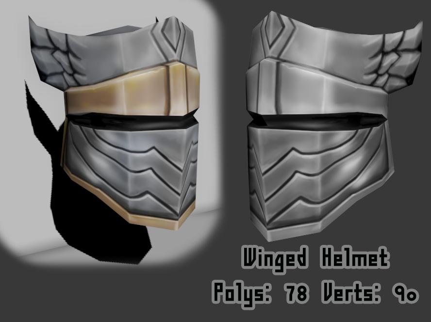 Winged Helmet by KidneyShake
