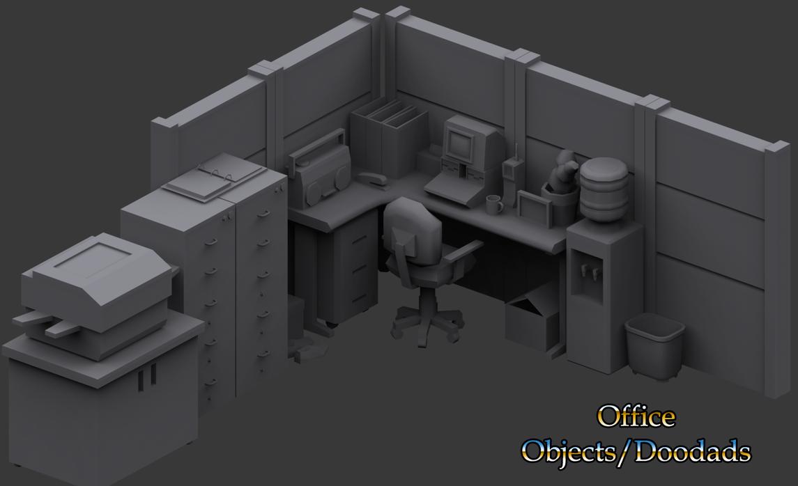 Office Supplies (Work in Progress 2) by KidneyShake