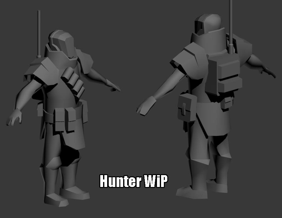 Hunter WiP by KidneyShake