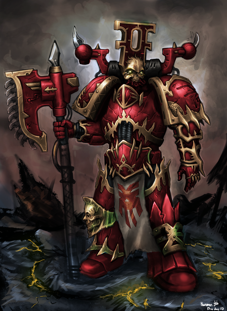 Chaos Space Marine by KidneyShake