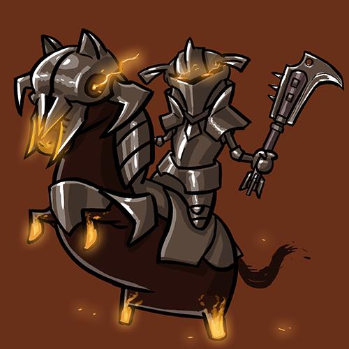 Dota Fanart v2 - Chaos Knight by KidneyShake