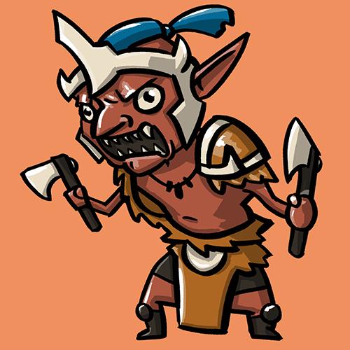 Dota Fanart v2 - Troll Warlord by KidneyShake
