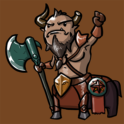 Dota Fanart v2 - Centaur Warrunner by KidneyShake