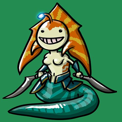 Dota Fanart v2 - Naga Siren by KidneyShake
