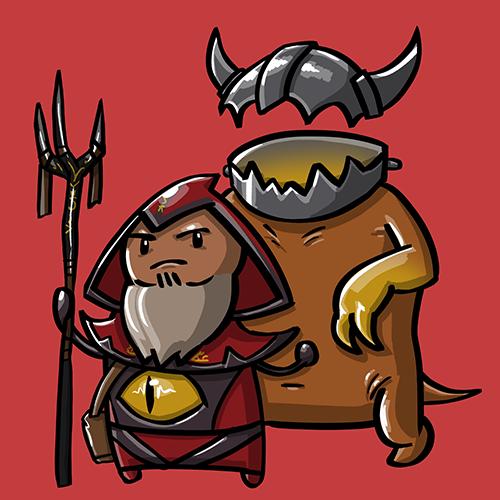 Dota Fanart v2 - Warlock by KidneyShake