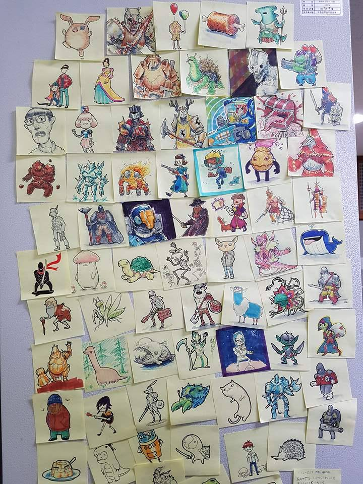 Post-It doodles. by KidneyShake