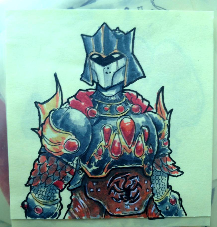 Rhaegar Targaryen Post-It Note by KidneyShake