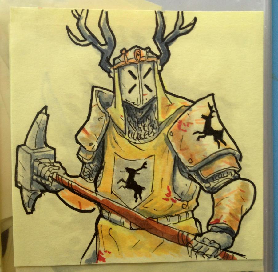 Robert Baratheon Post-It Note by KidneyShake