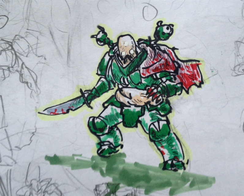 another wh40k sketch by KidneyShake
