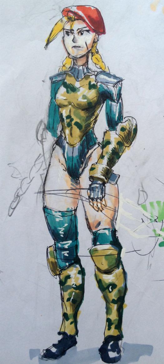 Cammy Sketch by KidneyShake