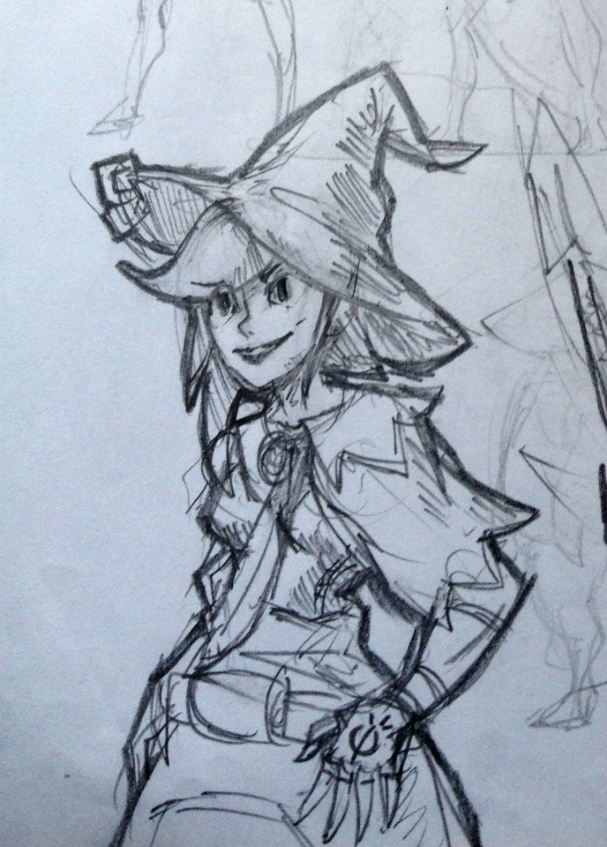 Fire Mage sketch by KidneyShake