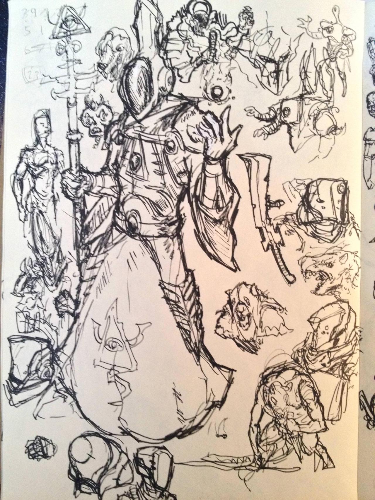 Random Sketch dump by KidneyShake