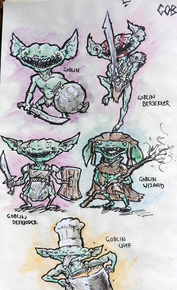 Pathfinder Goblins by KidneyShake