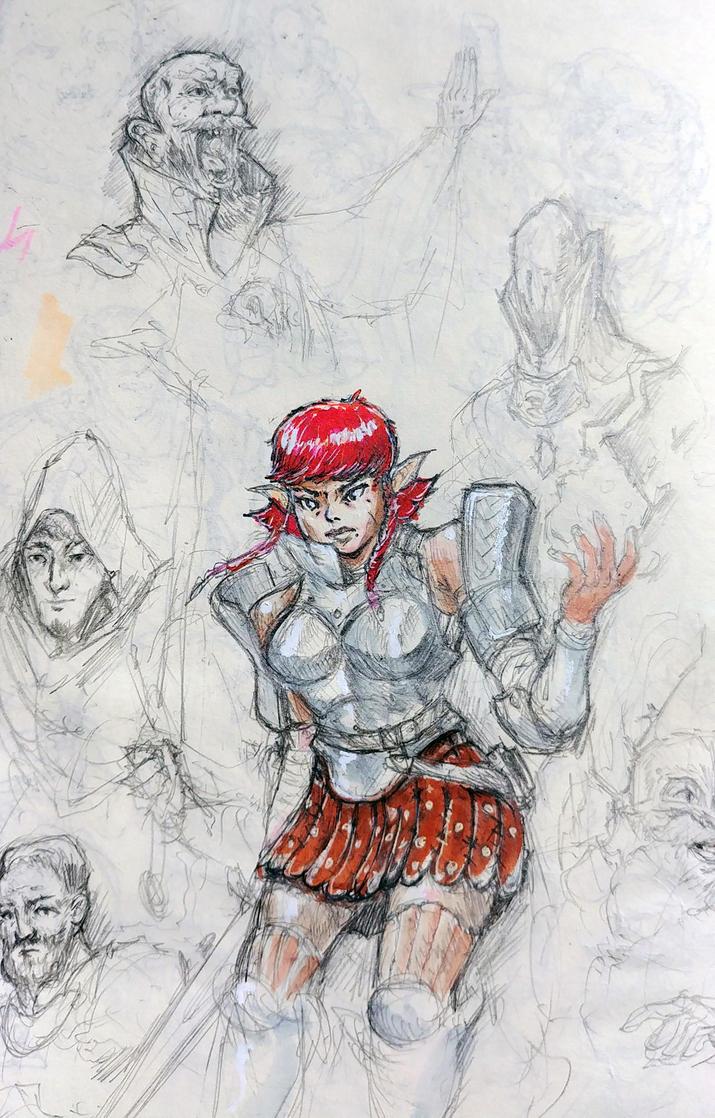 Random Sketch dump 3 by KidneyShake