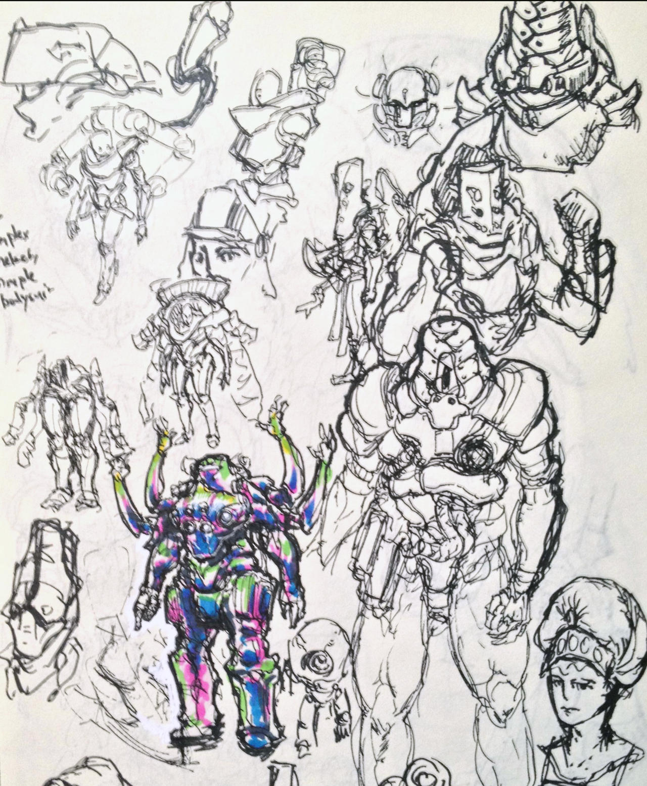 Spacesuit sketches 4 by KidneyShake